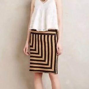 Anthropologie Eva Franco Navy Gold Box Skirt
